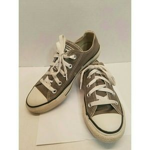 Converse All Star Charcoal Gray Low Top Sneakers